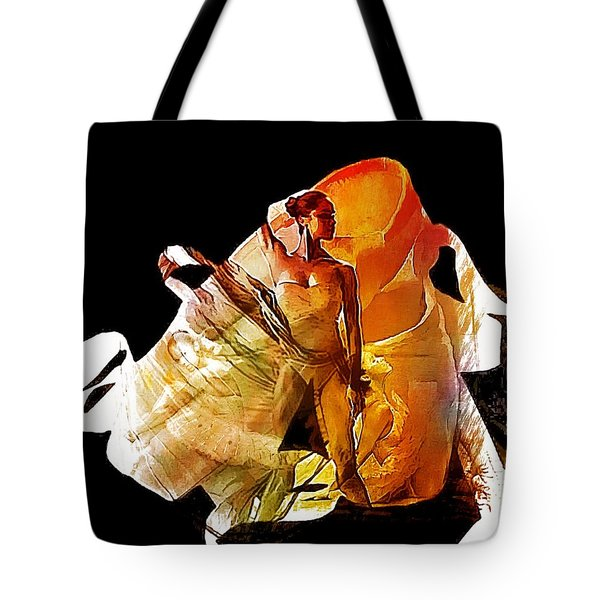 Misty Shoes Tote Bag by Lynda Payton