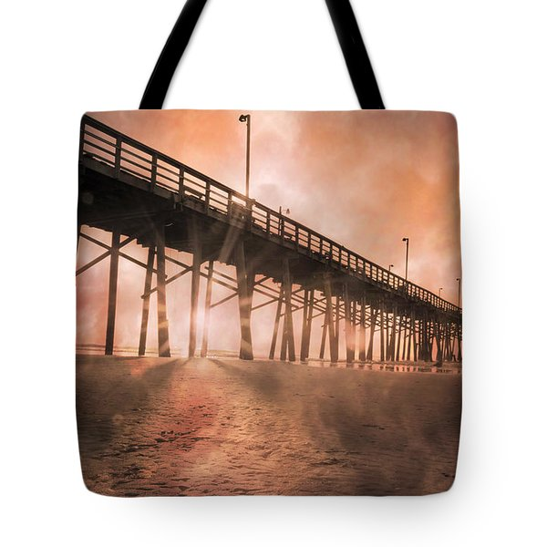 Misty Sunrise Tote Bag by Betsy Knapp