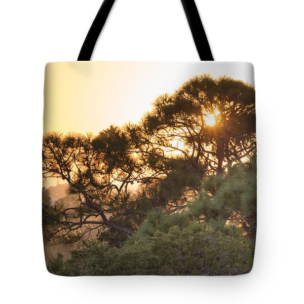Misty Sunrise Tote Bag