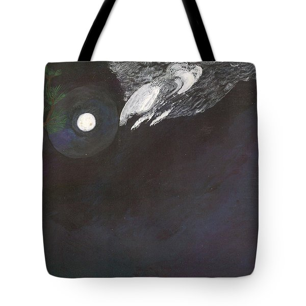 Tote Bag featuring the painting Misty Twinight by Kim Pate