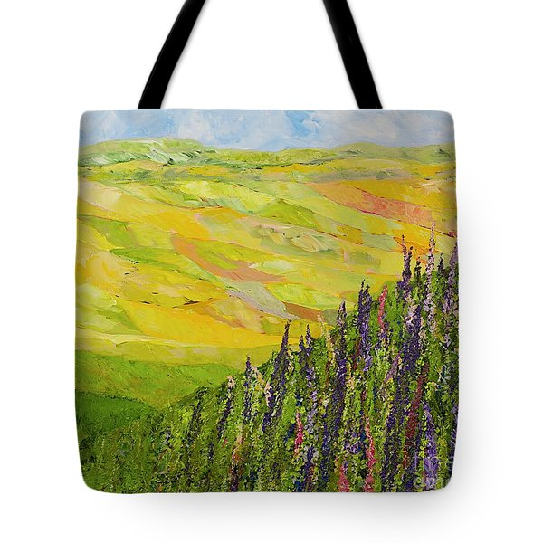 Misty Valley Tote Bag by Allan P Friedlander