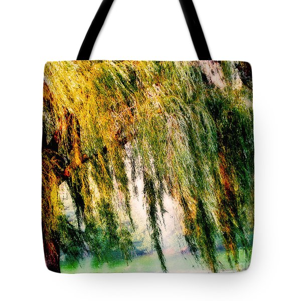 Misty Weeping Willow Tree Dreams Tote Bag
