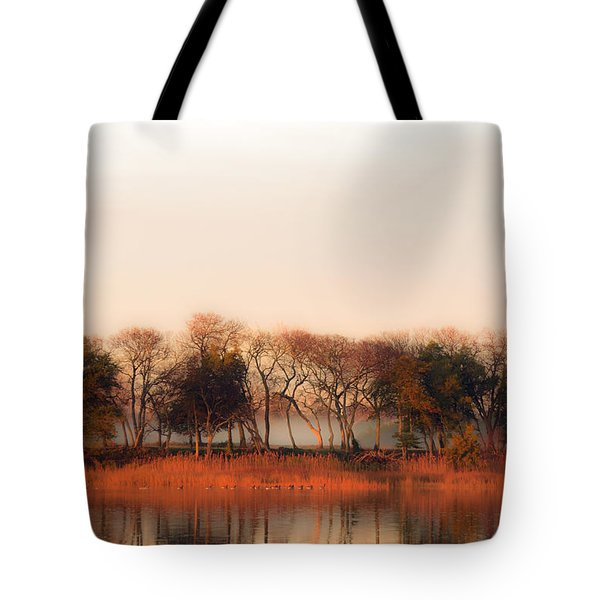 Misty Winter's Morning Tote Bag