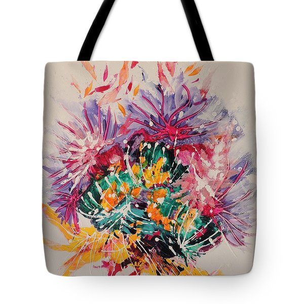Tote Bag featuring the painting Mixed Coral by Lyn Olsen
