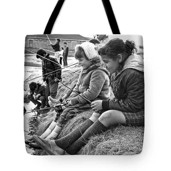 Mixed Ethnic Children Fishing Tote Bag