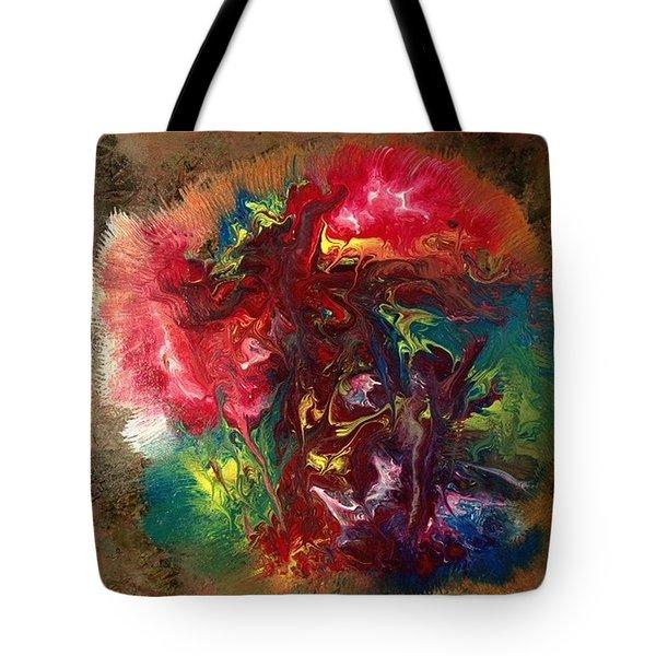 Mixed Media Abstract Post Modern Art By Alfredo Garcia Bizarre Tote Bag