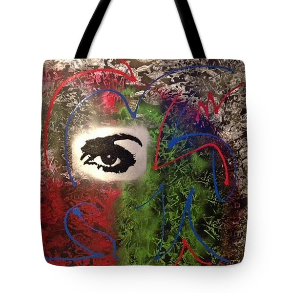 Mixed Media Abstract Post Modern Art By Alfredo Garcia Eye See You 2 Tote Bag