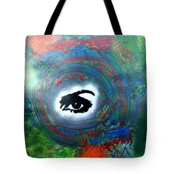 Mixed Media Abstract Post Modern Art By Alfredo Garcia Eye See You Tote Bag