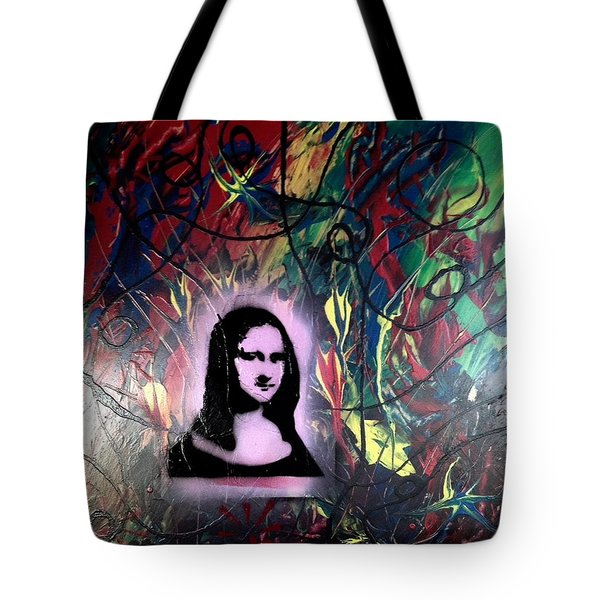 Mixed Media Abstract Post Modern Art By Alfredo Garcia Mona Lisa 2 Tote Bag