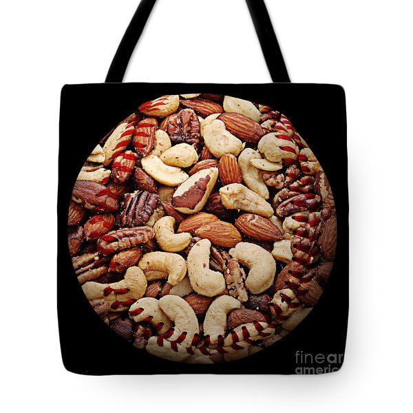 Mixed Nuts Baseball Square Tote Bag by Andee Design