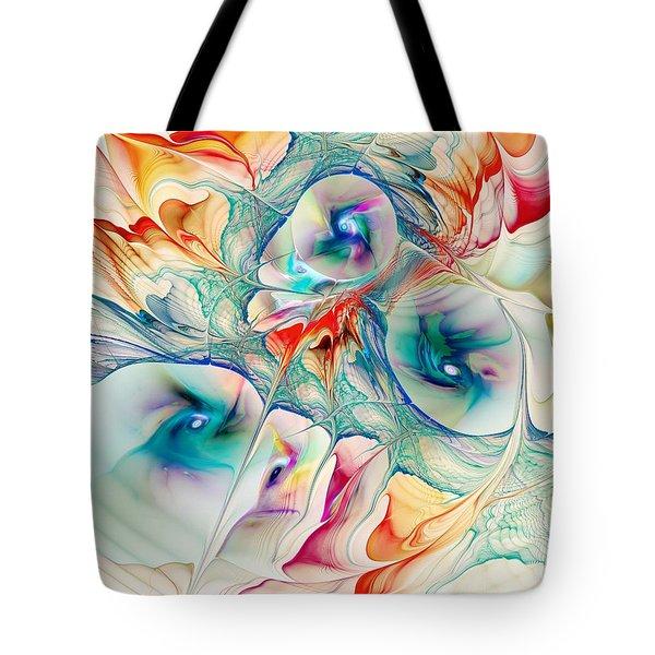 Mixed Reaction Tote Bag by Anastasiya Malakhova