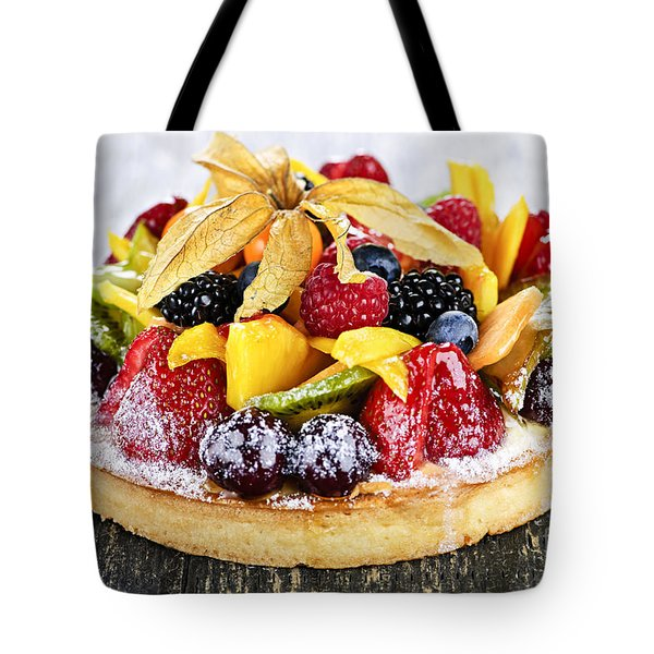 Mixed Tropical Fruit Tart Tote Bag by Elena Elisseeva