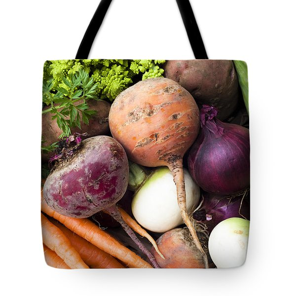 Mixed Veg Tote Bag by Anne Gilbert
