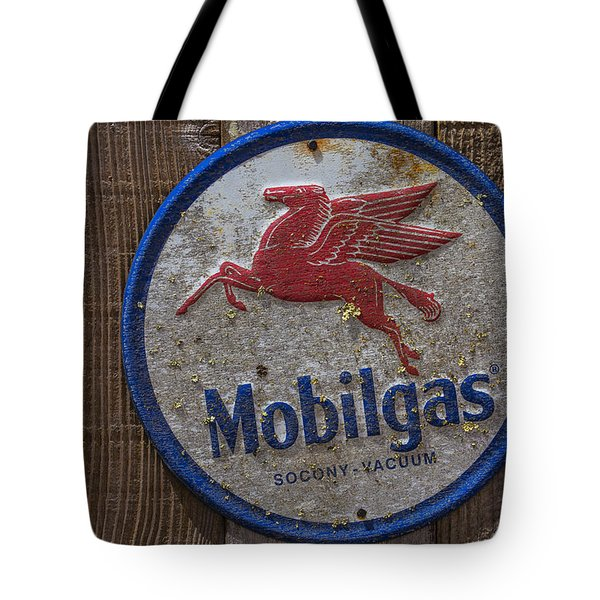 Mobil Gas Sign Tote Bag