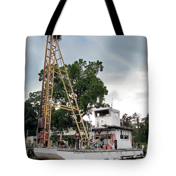 Tote Bag featuring the photograph Mobile Osprey Nest by Brian Wallace