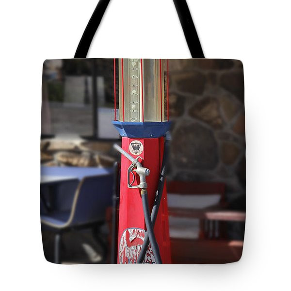 Mobilgas Visible Gas Pump Tote Bag by Mike McGlothlen