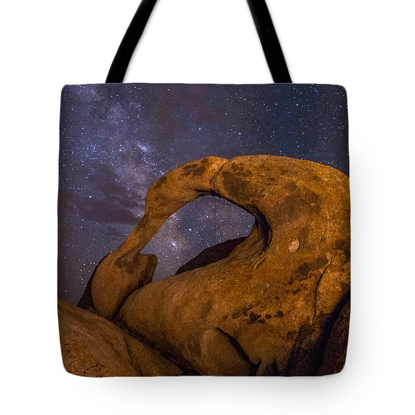 Mobius Arch And Milky Way Tote Bag by Cat Connor