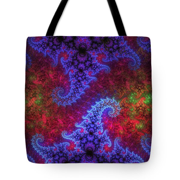Tote Bag featuring the digital art Mobius Unleashed by GJ Blackman