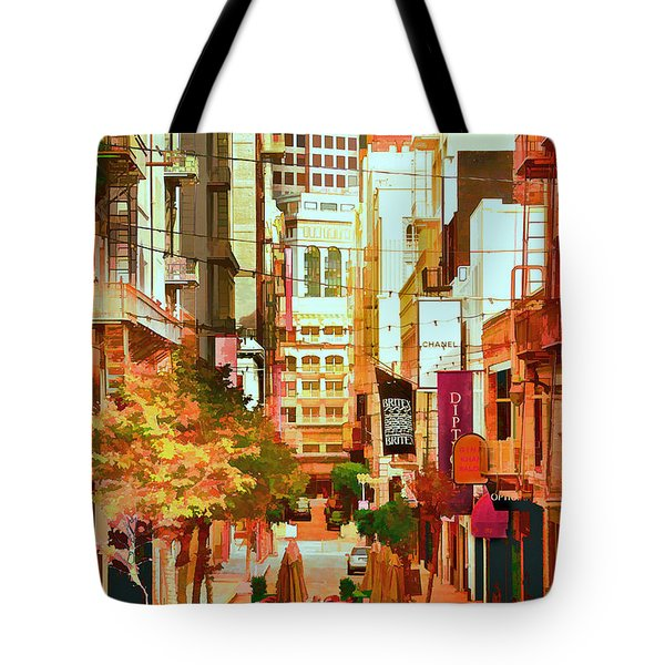 Mocca On Maiden Lane Tote Bag by Bill Gallagher