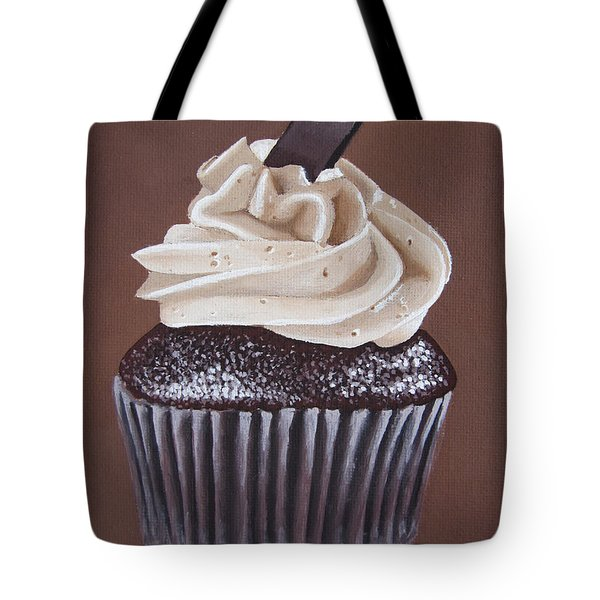 Mocha Cupcake Tote Bag by Kayleigh Semeniuk