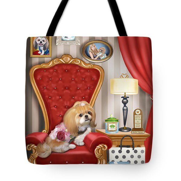 Mocha S Living Room Tote Bag