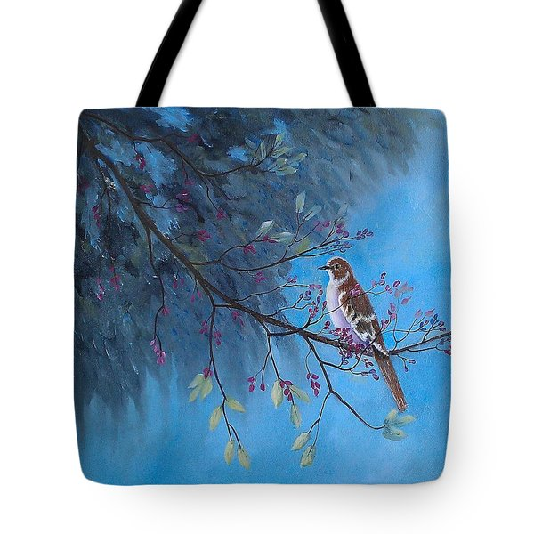 Mockingbird Happiness Tote Bag
