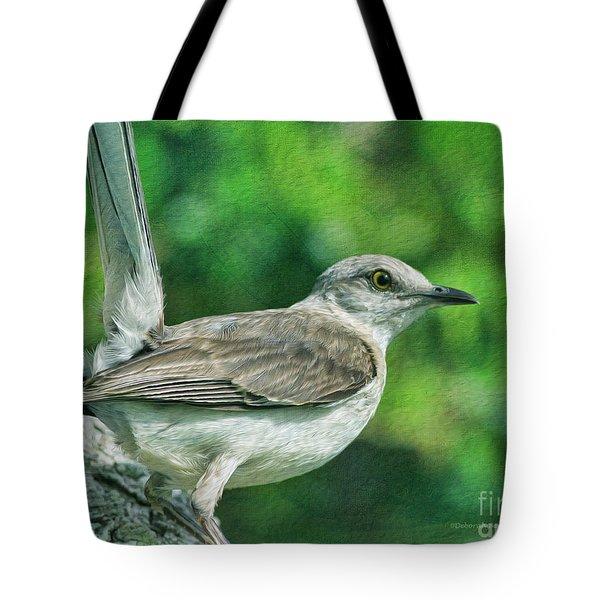 Mockingbird Pose Tote Bag