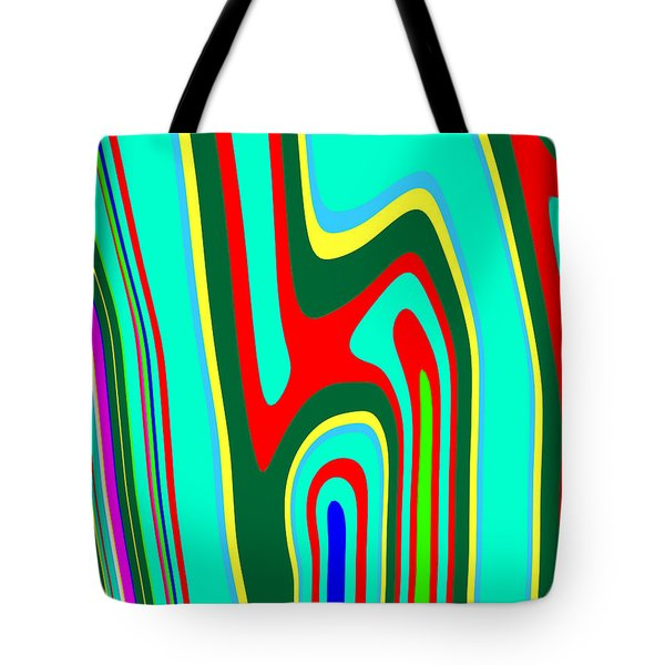 Tote Bag featuring the painting Mod Stripes  C2014 by Paul Ashby