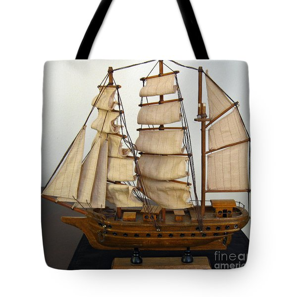 Model Sailing Ship Tote Bag