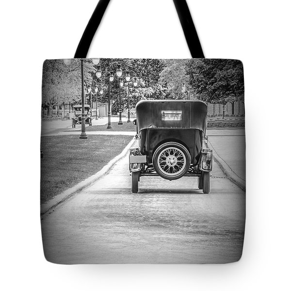 Model T Ford Down The Road Tote Bag
