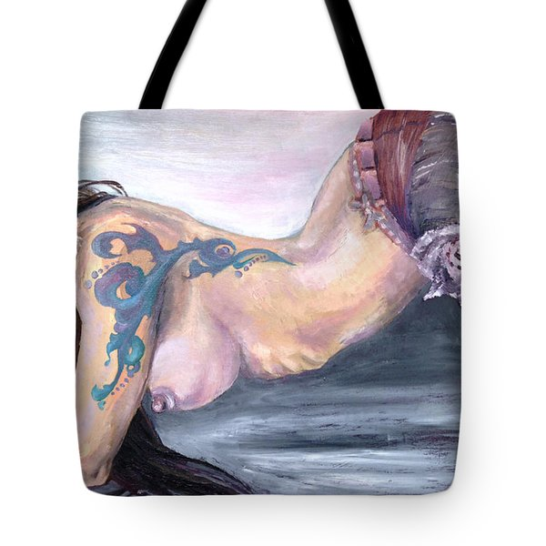 Model Waiting Pose Final Tote Bag