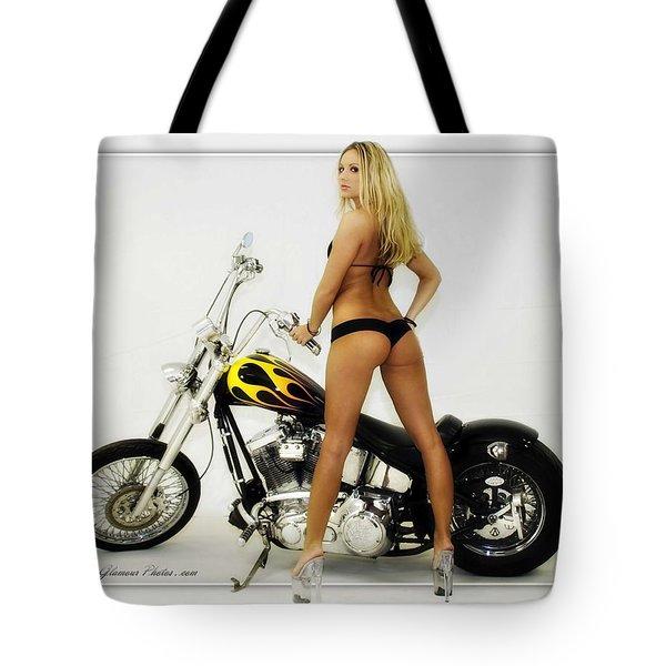 Models And Motorcycles_j Tote Bag