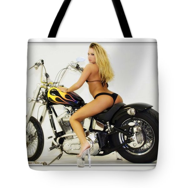 Models And Motorcycles_k Tote Bag