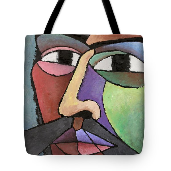 modern abstract art - About Face Tote Bag
