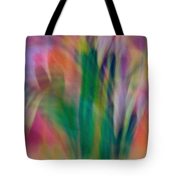 Modern Art Flower Garden Tote Bag
