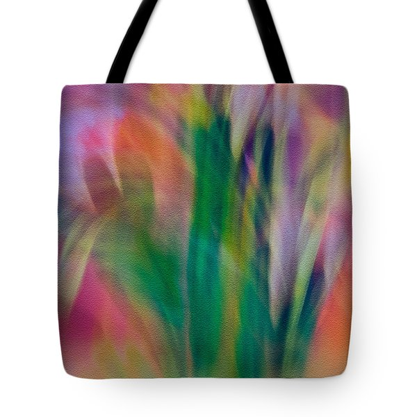 Tote Bag featuring the photograph Modern Art Flower Garden by Susan Leggett