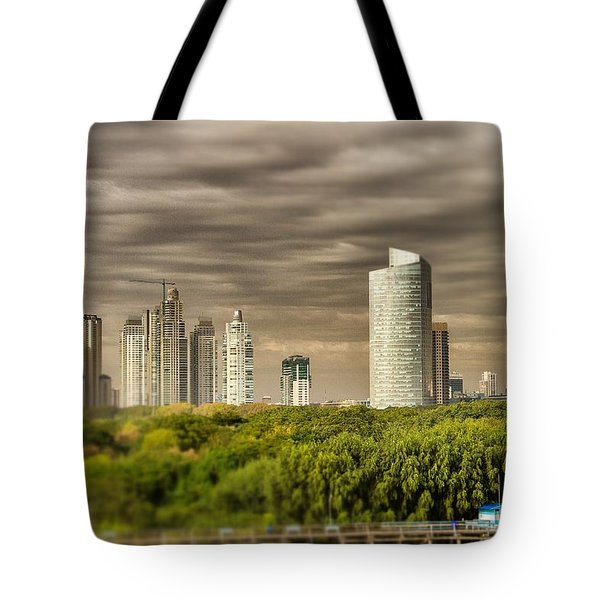 Modern Buenos Aires Tilt Shift Tote Bag by For Ninety One Days