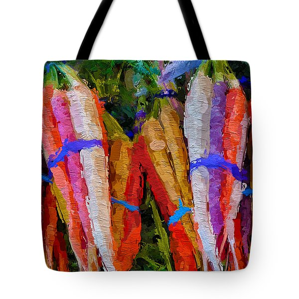 Modern Carrot Painting Tote Bag
