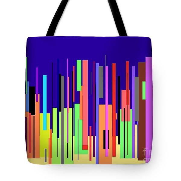 Modern Cityscape Tote Bag