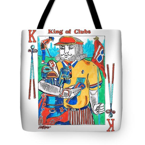 Modern King O' Clubs Tote Bag by Seth Weaver