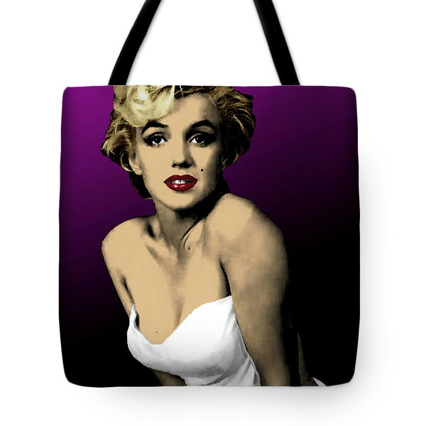 Tote Bag featuring the digital art Modern Marilyn by Dale Loos Jr