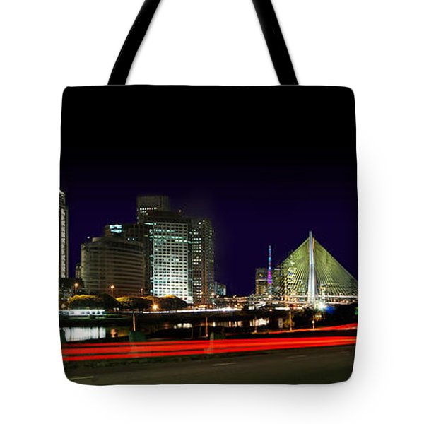 Modern Sao Paulo Skyline Near Brooklin District And Stayed Bridge Tote Bag