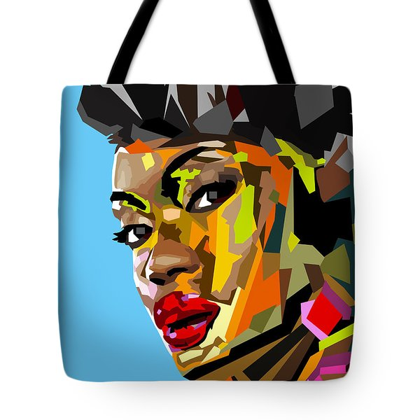 Tote Bag featuring the digital art Modern Woman by Anthony Mwangi
