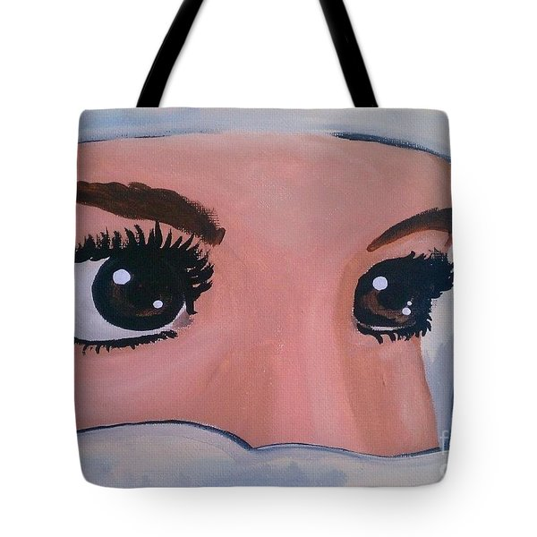 Modesty Tote Bag by Marisela Mungia
