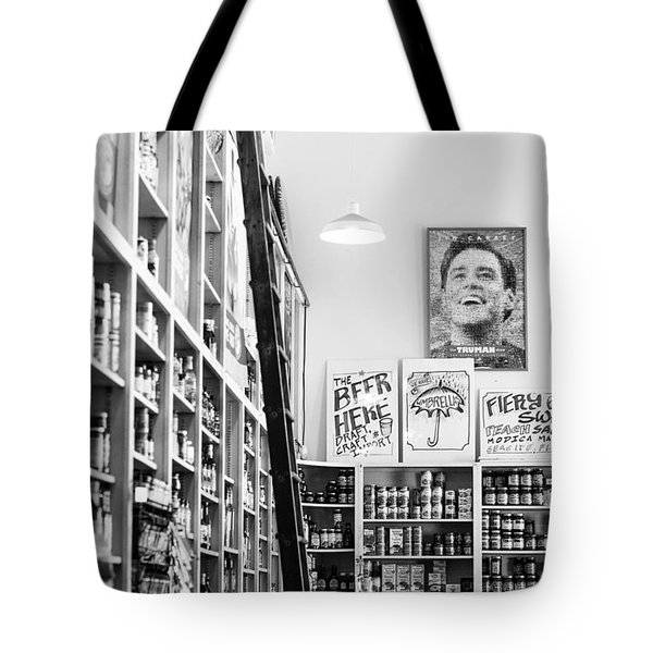Modica Market - Black And White Tote Bag by Shelby  Young