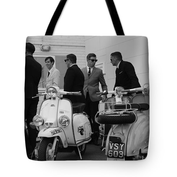 Mods And Suits Tote Bag