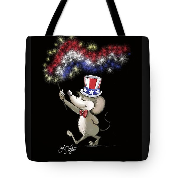 Moe's Happy 4th Of July Night Celebration Tote Bag