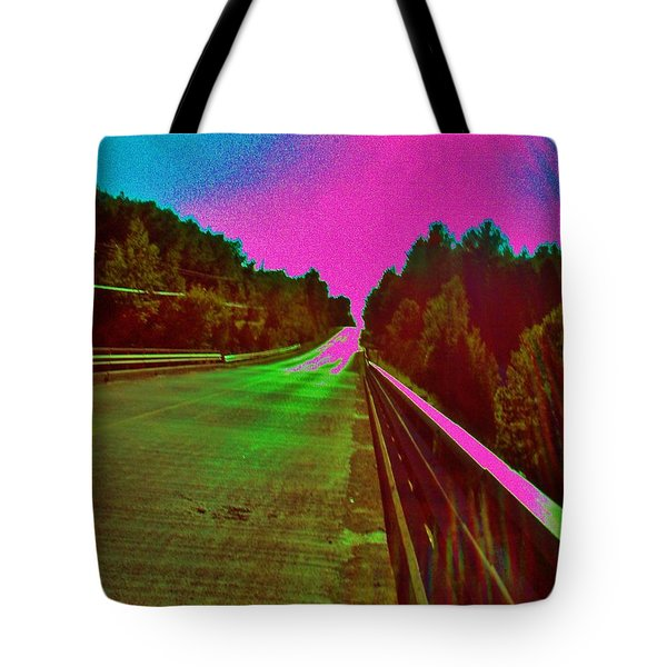 Tote Bag featuring the photograph Moffit Bridge And Maple Ridge Rd. by Daniel Thompson