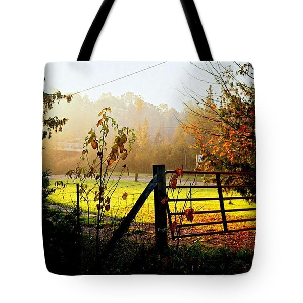 Tote Bag featuring the photograph Moffit Bridge  by Daniel Thompson