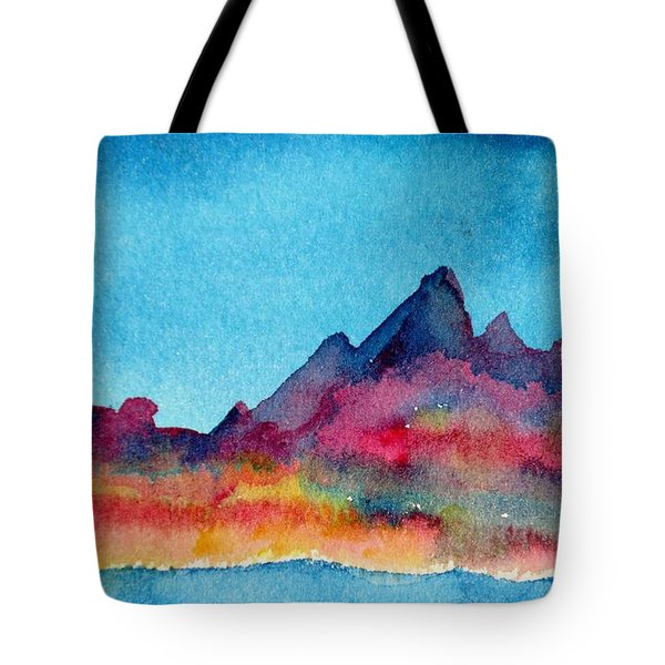 Mohave Mountains Tote Bag by Anne Duke